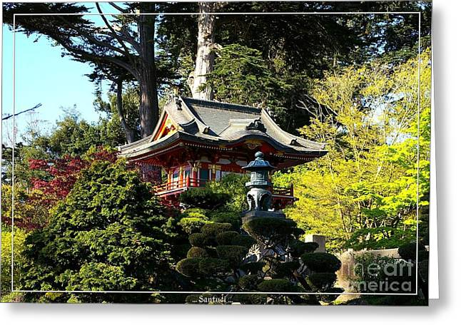 San Francisco Golden Gate Park Japanese Tea Garden 5 Greeting Card by Robert Santuci