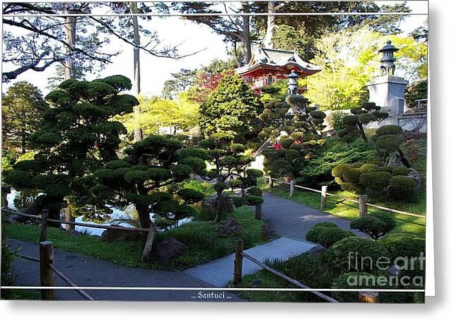 San Francisco Golden Gate Park Japanese Tea Garden 6 Greeting Card by Robert Santuci
