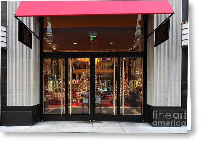 San Francisco Gumps Store Doors - 5d20588 Greeting Card by Wingsdomain Art and Photography