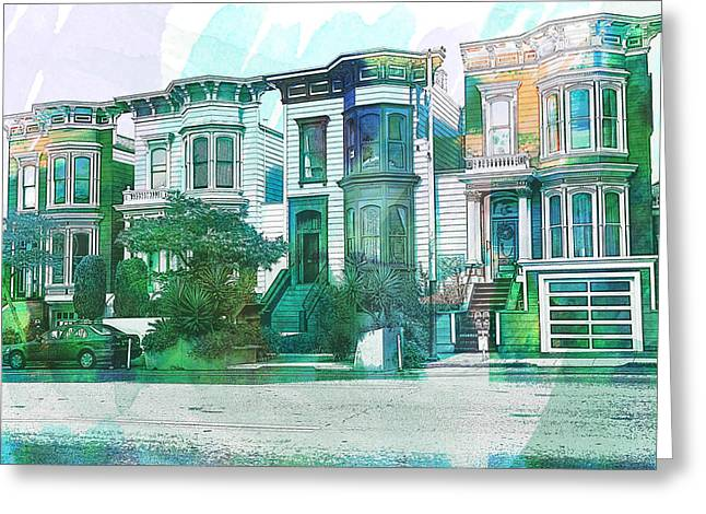 San Francisco Homes Greeting Card by Garry Gay