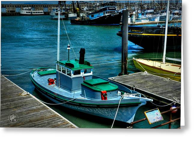 San Francisco - Hyde Street Pier - The Wetton Greeting Card by Lance Vaughn