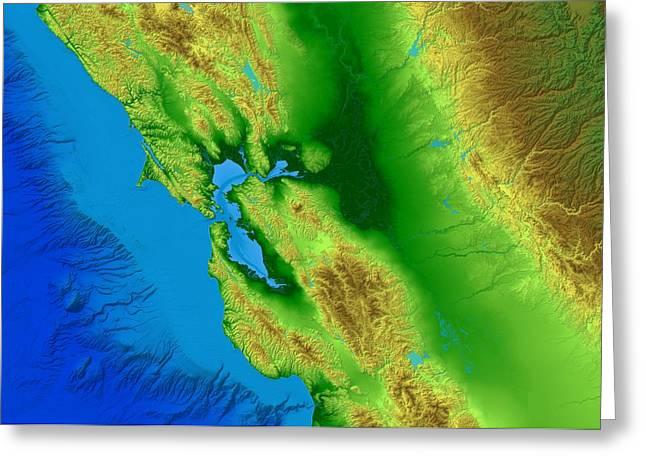 San Francisco Map Art Greeting Card