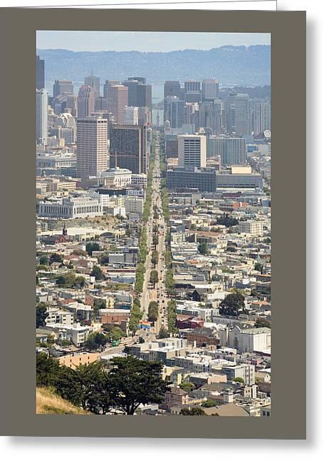 San Francisco - Market Street - Castro To Embarcadero Greeting Card by Daniel Furon