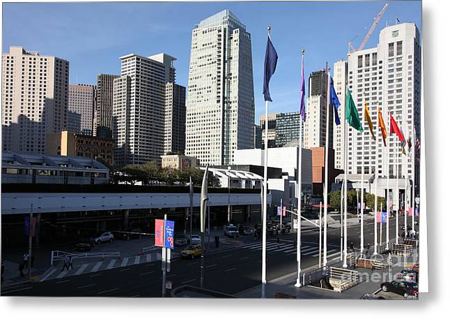 San Francisco Moscone Centerand And Skyline - 5d20504 Greeting Card by Wingsdomain Art and Photography