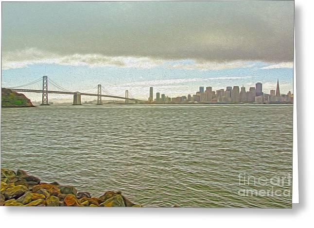 San Francisco Greeting Card by Nur Roy