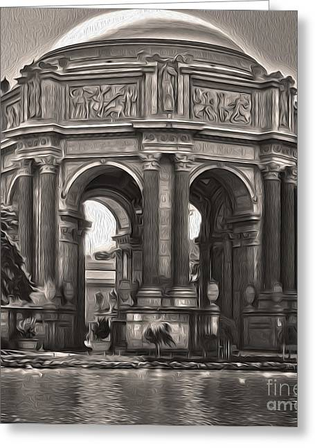 San Francisco - Palace Of Fine Arts - 01 Greeting Card by Gregory Dyer