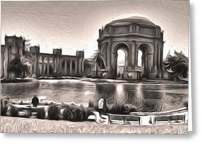 San Francisco - Palace Of Fine Arts - 03 Greeting Card by Gregory Dyer
