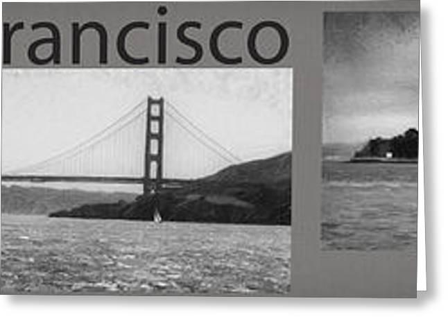 San Francisco Panorama Art Greeting Card by David Millenheft