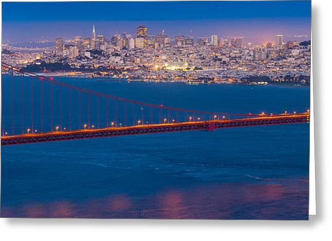 San Francisco Panorama Greeting Card by Inge Johnsson
