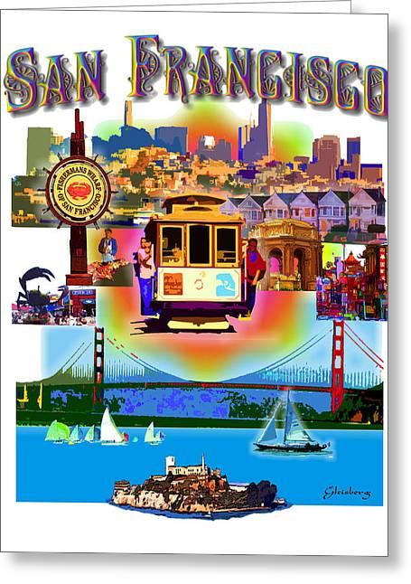 San Francisco Poster Greeting Card