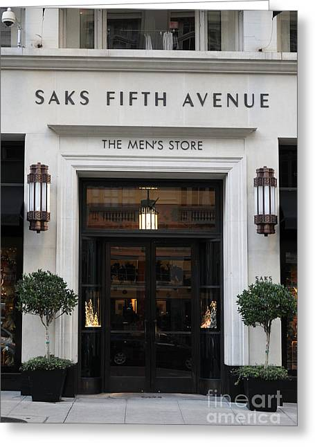 San Francisco Saks Fifth Avenue Store Doors - 5d20574 Greeting Card by Wingsdomain Art and Photography