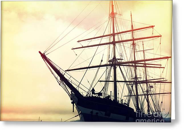 San Francisco Ship I Greeting Card by Chris Andruskiewicz
