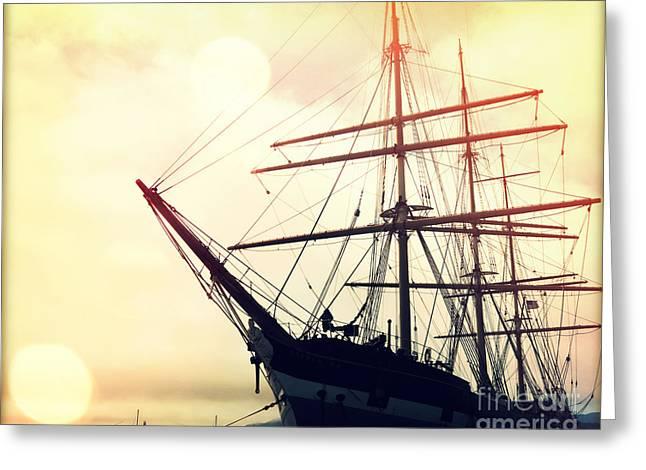 San Francisco Ship II Greeting Card by Chris Andruskiewicz