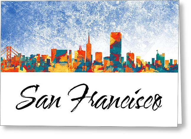San Francisco Skyline  Greeting Card by Special Tees