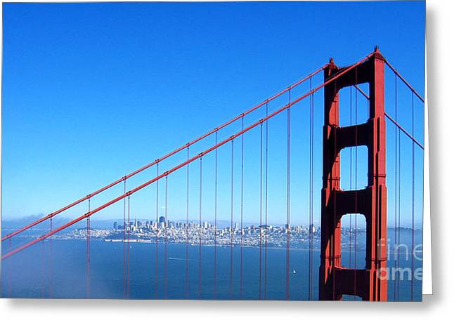 San Francisco - The City With The Golden Gate Greeting Card