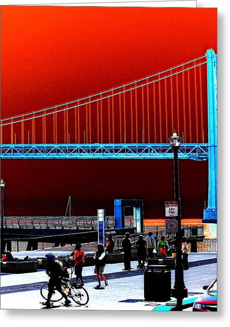 Greeting Card featuring the photograph San Francisco Unique Processing by Maggy Marsh
