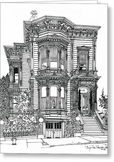 San Francisco Victorian   Greeting Card