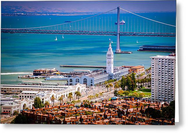 San Francisco Waterfront Greeting Card by Celso Diniz