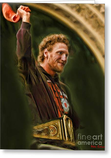 San Fransco Gaints Hunter Pence Greeting Card by Blake Richards
