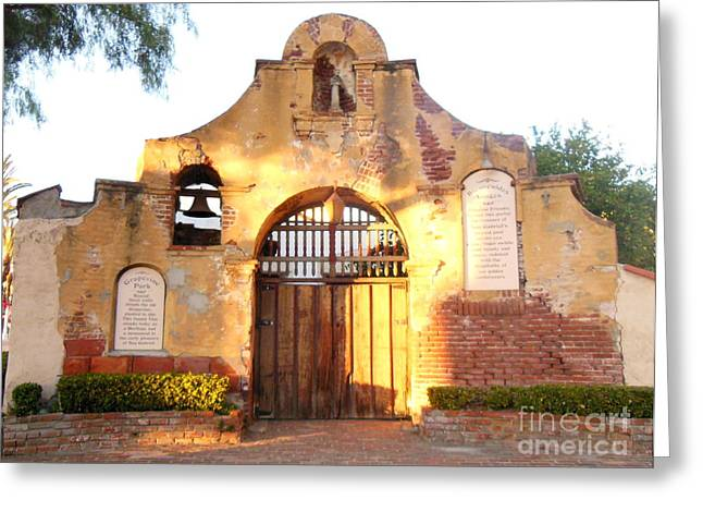 San Gabriel Mission Greeting Card by Eclectic Captures