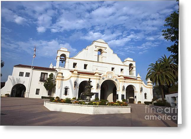 San Gabriel Mission Playhouse Greeting Card