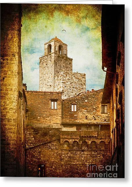 San Gimignano Italy Greeting Card