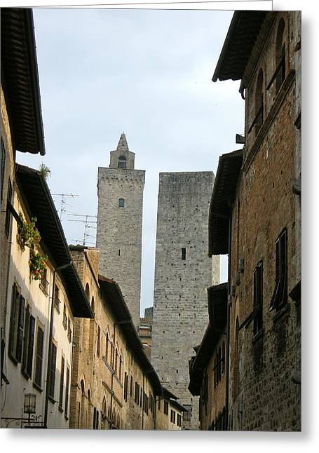 Greeting Card featuring the photograph San Gimignano Italy by Victoria Lakes