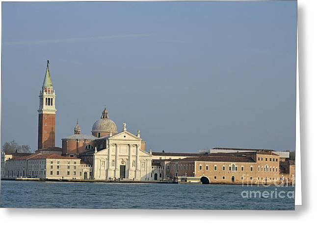 San Giorgio Maggiore Church And Canal Greeting Card by Sami Sarkis