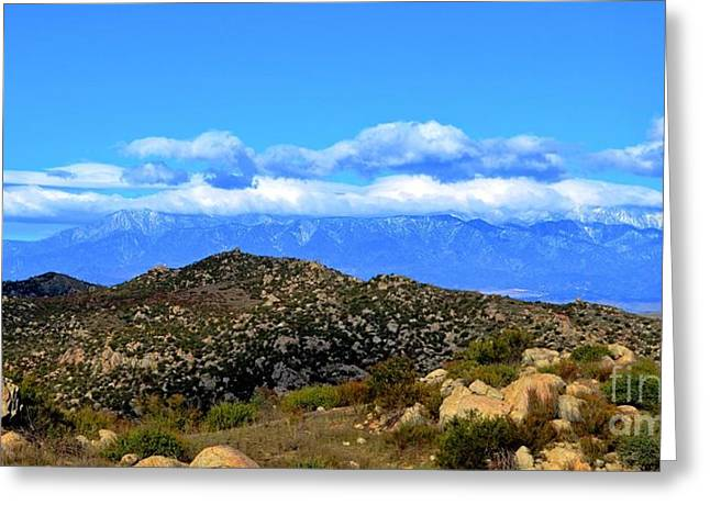San Gorgonio Snow Cap Greeting Card