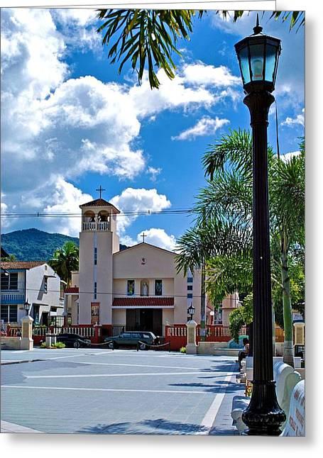 San Joaquin Catholic Church Greeting Card by Ricardo J Ruiz de Porras