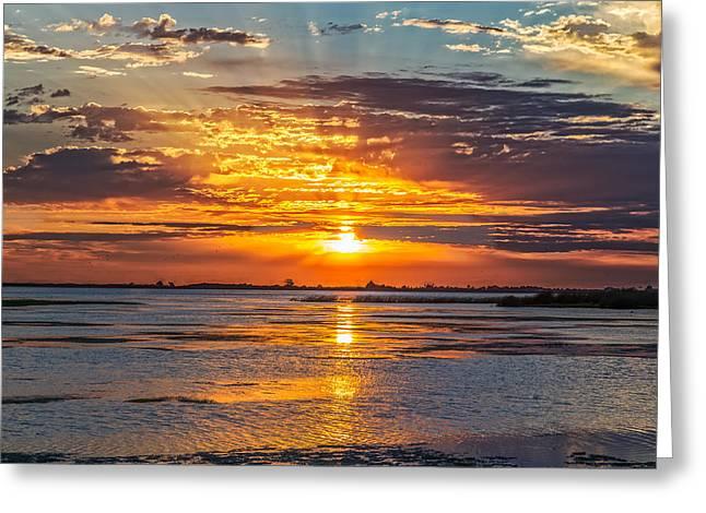 San Joaquin Sunrise Greeting Card