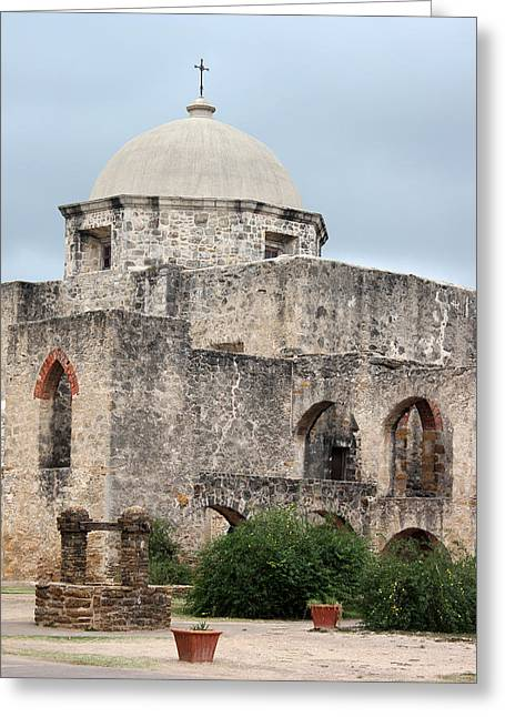 San Jose Mission Greeting Card by Mary Bedy