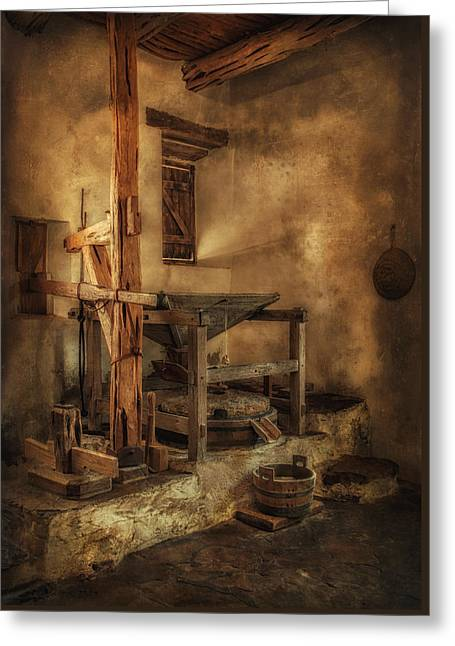 San Jose Mission Mill Greeting Card by Priscilla Burgers