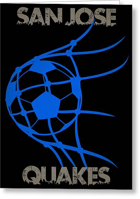 San Jose Quakes Goal Greeting Card by Joe Hamilton