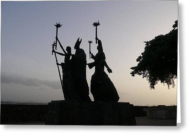 San Juan - La Rogativa Silhouette Greeting Card by Richard Reeve