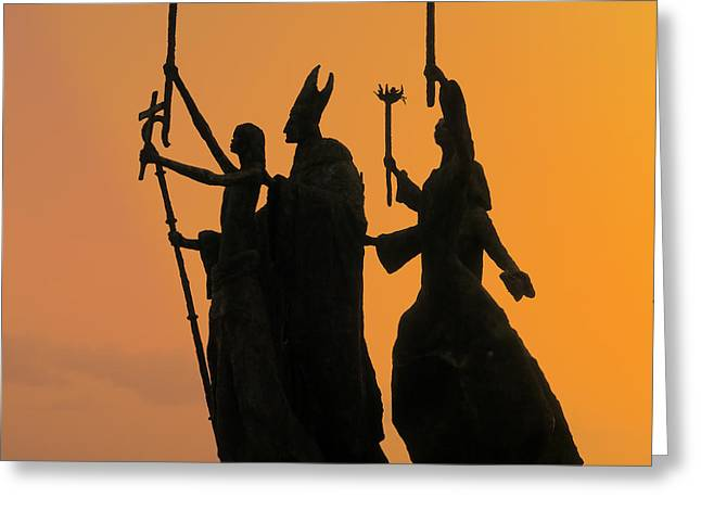 San Juan - La Rogativa Sunset Greeting Card by Richard Reeve