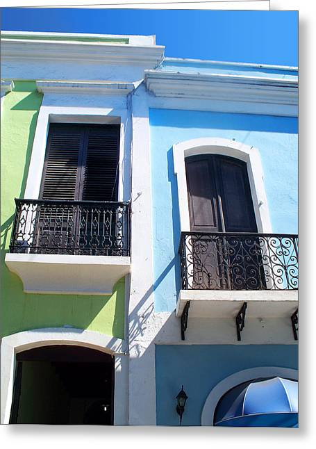 San Juan Balconies Greeting Card