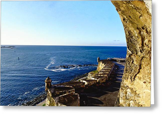 San Juan Bay View From A Fort Greeting Card