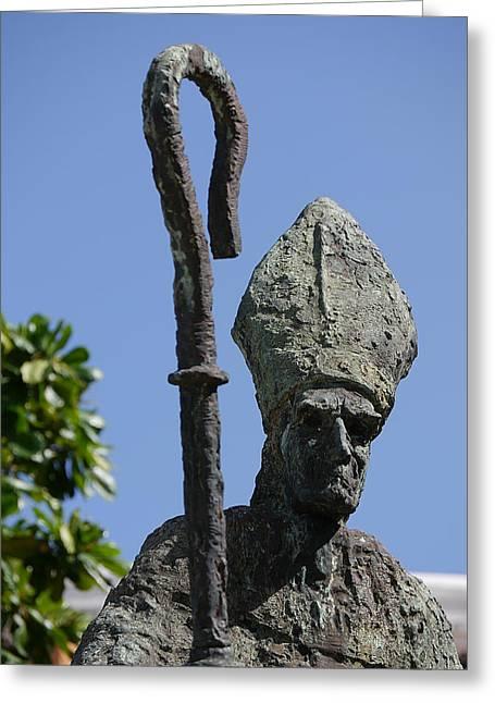 San Juan - La Rogativa Bishop Greeting Card by Richard Reeve