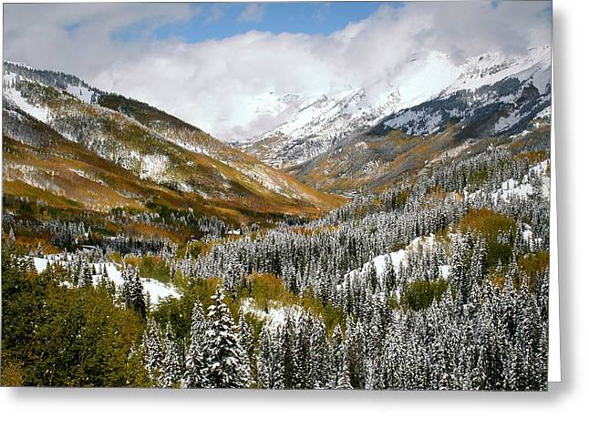San Juan Mountains After Recent Snowstorm Greeting Card by Jetson Nguyen