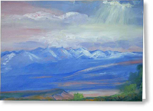 San Juan Mountains Colorado Greeting Card by Patricia Kimsey Bollinger