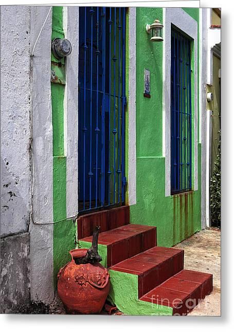 San Juan Red Stairs Greeting Card