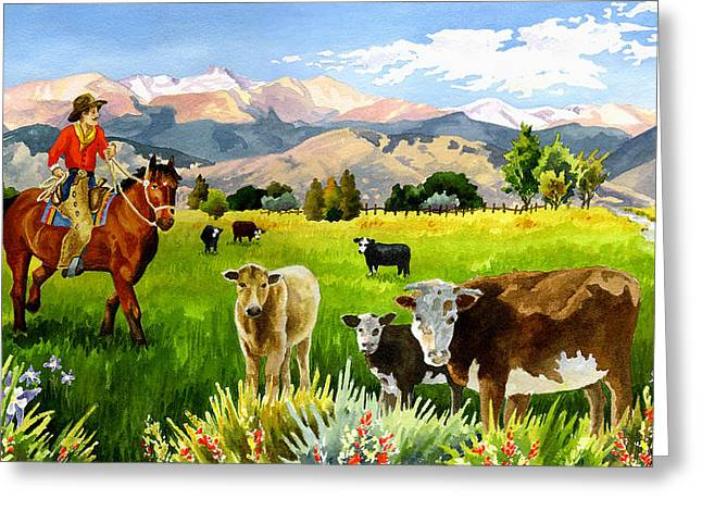 San Juan Valley Greeting Card by Anne Gifford