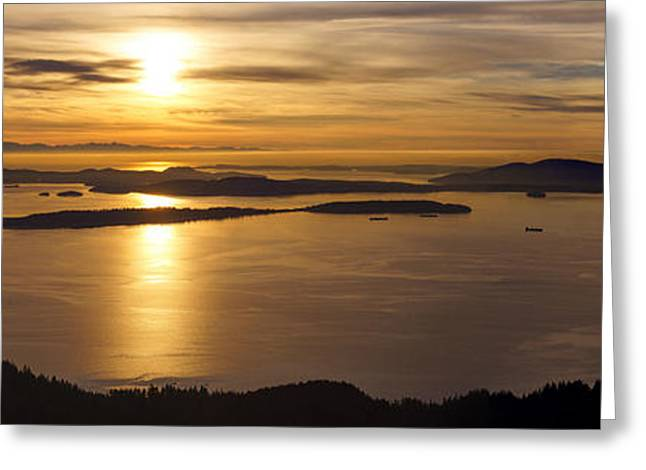 San Juans Evening Serenity Greeting Card by Mike Reid