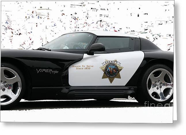 San Luis Obispo County Sheriff Viper Patrol Car Greeting Card by Tap On Photo