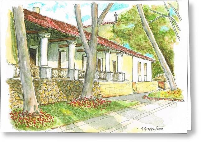 San Luis Obispo Mission - California Greeting Card by Carlos G Groppa