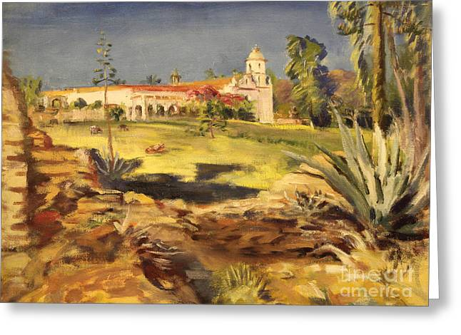 San Luis Rey Mission 1947 Greeting Card