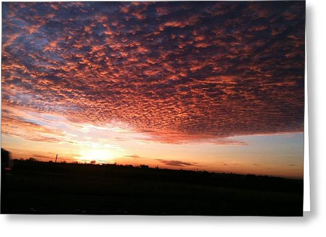 Greeting Card featuring the photograph San Marcos Sunrise by David  Norman