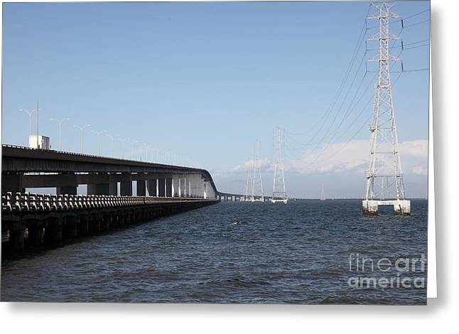 San Mateo Bridge In The California Bay Area 5d21893 Greeting Card by Wingsdomain Art and Photography