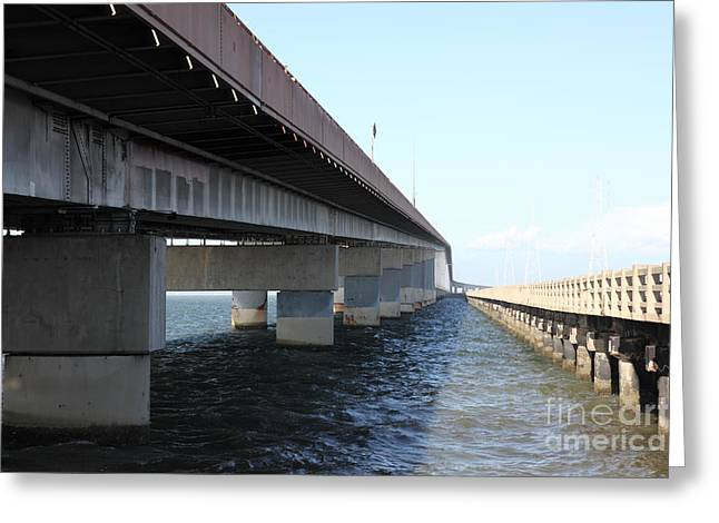 San Mateo Bridge In The California Bay Area 5d21898 Greeting Card by Wingsdomain Art and Photography
